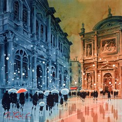 Scuola Grande Di San Rocco Venice by Peter J Rodgers - Original Painting on Paper sized 20x20 inches. Available from Whitewall Galleries